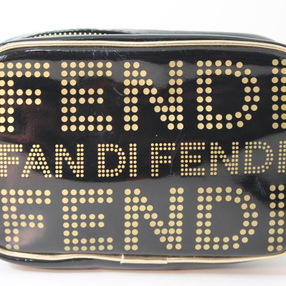 726eb75da6 FENDI Handbags - Shiny Black FENDI FAN DI Trousse Makeup Travel Bag